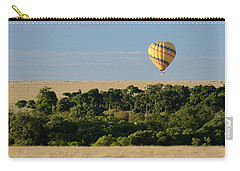 Yellow Hot Air Balloon Masai Mara Carry-all Pouch