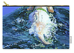 Yellow Lab  Blue Wake Carry-all Pouch