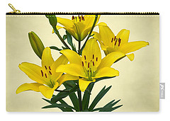 Yellow Lilies Carry-all Pouch by Jane McIlroy