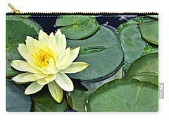 Yellow Lotus - Botanical Art By Sharon Cummings Carry-all Pouch by Sharon Cummings