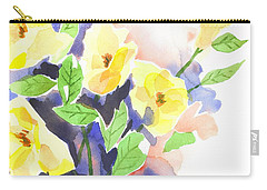 Carry-all Pouch featuring the painting Yellow Magnolias by Kip DeVore