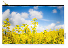 Yellow Mustard Field Carry-all Pouch