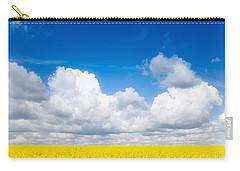 Yellow Mustard Fields Under A Deep Blue Sky Carry-all Pouch
