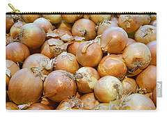 Carry-all Pouch featuring the photograph Yellow Onions by Emmy Marie Vickers