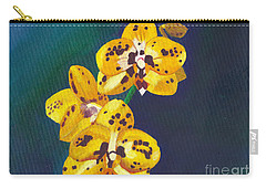 Carry-all Pouch featuring the painting Yellow Orchids by Laura Forde