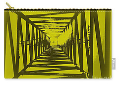 Carry-all Pouch featuring the photograph Yellow Perspective by Clare Bevan