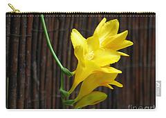 Yellow Petals Carry-all Pouch by HEVi FineArt