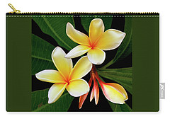 Yellow Plumeria Carry-all Pouch by Ben and Raisa Gertsberg