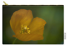Yellow Poppy Carry-all Pouch by Jacqui Boonstra