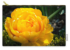 Carry-all Pouch featuring the photograph Yellow Rose by Dee Dee  Whittle