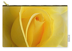 Yellow Rose Portrait Carry-all Pouch