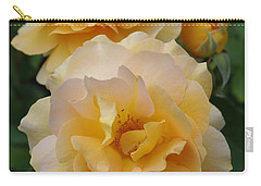 Carry-all Pouch featuring the photograph Yellow Roses by Marilyn Wilson