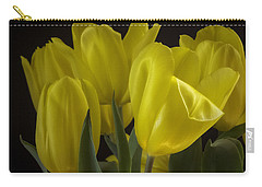 Carry-all Pouch featuring the photograph Yellow Silk by Lucinda Walter