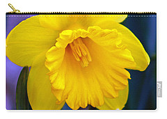 Carry-all Pouch featuring the photograph Yellow Spring Daffodil by Kay Novy