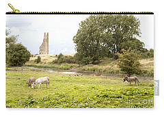 Yellow Steeple Amidst Meath Ireland Carry-all Pouch