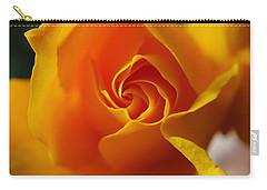 Yellow Swirl Carry-all Pouch by Joe Schofield