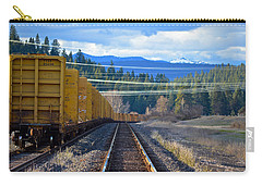 Yellow Train To The Mountains Carry-all Pouch