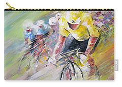 Yellow Triumph Carry-all Pouch by Miki De Goodaboom