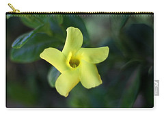 Carry-all Pouch featuring the photograph Yellow Trumpet Flower by Ramabhadran Thirupattur