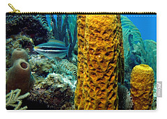 Carry-all Pouch featuring the photograph Yellow Tube Sponge by Amy McDaniel