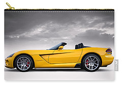 Yellow Viper Roadster Carry-all Pouch by Douglas Pittman