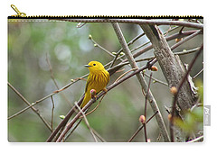 Yellow Warbler Carry-all Pouch by Karen Silvestri