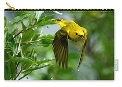 Yellow Warbler Takes Flight Carry-all Pouch