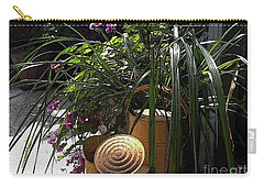 Yellow Watering Cans Carry-all Pouch by Yvonne Wright