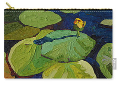 Yellow Waterlily Carry-all Pouch by Phil Chadwick