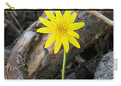 Yellow Wildflower Carry-all Pouch by Laurel Powell