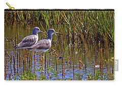 Carry-all Pouch featuring the photograph Yellowlegs Of Texas by Gary Holmes