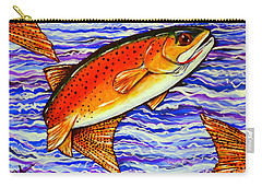 Yellowstone Cutthroat Carry-all Pouch by Jackie Carpenter
