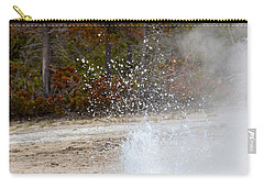 Carry-all Pouch featuring the photograph Yellowstone Geyser by Michael Chatt