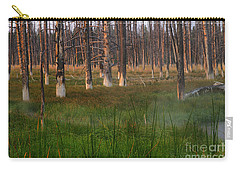 Yellowstone Mysterious Morning Carry-all Pouch by Teresa Zieba