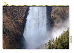 Lower Yellowstone Falls Carry-all Pouch by Athena Mckinzie