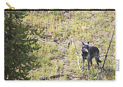 Carry-all Pouch featuring the photograph Yellowstone Wolf by Belinda Greb