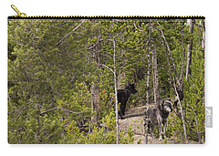 Carry-all Pouch featuring the photograph Yellowstone Wolves by Belinda Greb