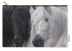 Yin-yang Horses  Carry-all Pouch