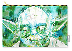 Yoda Watercolor Portrait Carry-all Pouch