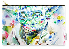 Yoda Watercolor Portrait.1 Carry-all Pouch