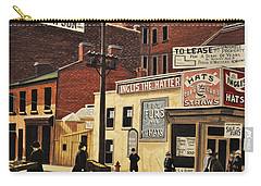 Carry-all Pouch featuring the painting Yonge And Richmond Streets 1899 by Kenneth M  Kirsch