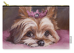 Yorkshire Terrier Princess In Pink Carry-all Pouch