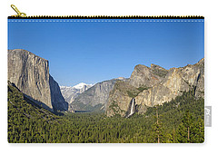 Carry-all Pouch featuring the photograph Yosemite Valley Moonrise by Steven Sparks