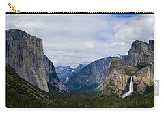 Yosemite Valley Panoramic Carry-all Pouch by Bill Gallagher