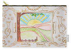 You Are My Sunshine Carry-all Pouch by Cassie Sears