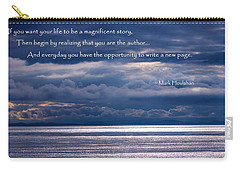Carry-all Pouch featuring the photograph You Are The Author by Jordan Blackstone