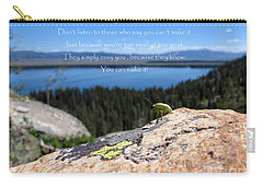 Carry-all Pouch featuring the photograph You Can Make It. Inspiration Point by Ausra Huntington nee Paulauskaite