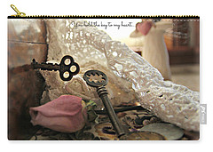 You Hold The Key To My Heart Carry-all Pouch by Katie Wing Vigil