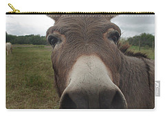 Carry-all Pouch featuring the photograph You Looking At My Woman by Peter Piatt