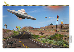 You Never Know What You Will See On Route 66 Carry-all Pouch by Mike McGlothlen